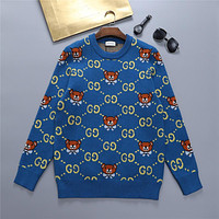 GUCCI GG Womens Knitted Double G Sweater