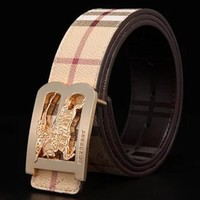 BURBERRY Woman Fashion Smooth Buckle Belt Leather Belt H-A-GFPDPF Tagre™
