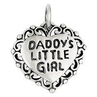Sterling Silver Antiqued Daddy's Little Girl, Best Quality Free Gift Box Satisfaction Guaranteed