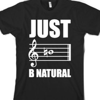 Just B Natural-Unisex Black T-Shirt