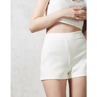 Hearts and Bows White Cher Scuba Shorts