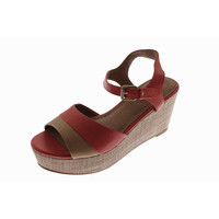 Corso Como Womens Naan Leather Ankle Strap Wedges