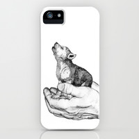 Wolf Cub // Graphite iPhone & iPod Case by Sandra Dieckmann