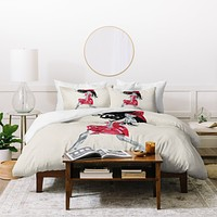 Amy Smith Red Dress Duvet Cover