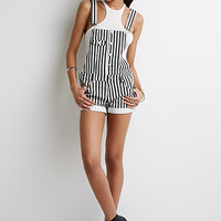 Stripe Overall Shorts