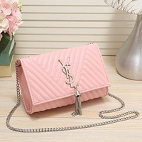 Best Gifts YSL Women Shopping Bag Leather Chain Satchel Shoulder Bag Crossbody