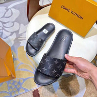 Louis Vuitton Lv Men And Women Cloth Slippers-8