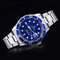 Rolex tide brand fashion men and women fashion watches F-SBHY-WSL Silver + Blue Case + Blue Dial