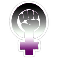 Asexual Feminist by queenbeedigital