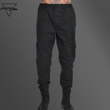 Aelfric Eden Brand Men Cargo Pants Vintage Military Multi-pockets Pants Field Army Style Casual Pants Men's Black Pants