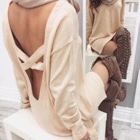 FASHION CROSS SWEATER DRESS