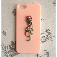 Steampunk Cat  hard case For Apple iPhone 5 case cover
