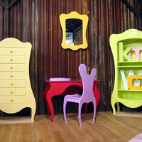 Kids bookcase VOLUTE Collection by Mathy by Bols   design Paule Brochère