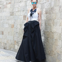 Long Black Skirt, Extravagant Skirt, Cotton Skirt, Maxi Skirt, Boho Skirt, Womens Trendy Skirt, Skirts, Oversized Skirt, Full Skirt S14517Y