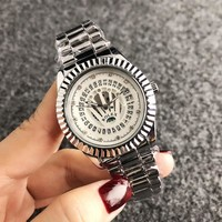 Silver ROLEX Wtch for Women +gift box
