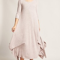 Oversized Marled Maxi Dress