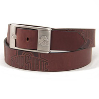 Ohio State Buckeyes NCAA Men's Embossed Leather Belt