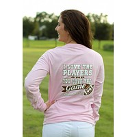 SALE Southern Darlin I Love the Players & You Love the Game Football Bow Longsleeve Bright Girlie T-Shirt
