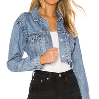 LEVI'S Cut Off Crop Trucker in Off the Grid | REVOLVE