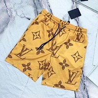 Louis Vuitton LV Fashion New Monogram Print Women Men Sports Leisure Shorts-1