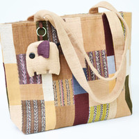 Cotton Tote Bag Mixed colors  With zipper On Side (CTB021)