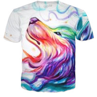 A Wonderful Wolf Shirt and Very Colorful Too!!!