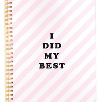 ban.do 'Rough Draft - I Did My Best' Notebook - Pink