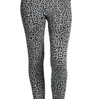 Snow Leopard Fleece Lined Leggings | MACA Boutique