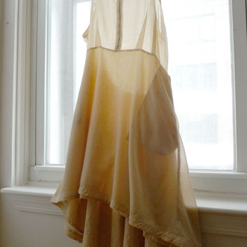 Silk Cotton Dress in Cream - size Large