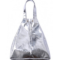 Metallic Backpack with Drawstring
