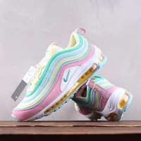 DCCK N165 Nike W Air Max 97 Cushion Causal Breathable Iidescence Pink