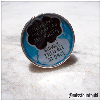 """Metal / Resin ring inspired by """"The fault in our stars"""""""