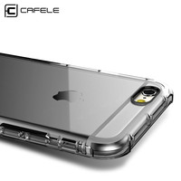 CAFELE Luxury Case for iphone 6 cases Transparent Soft TPU Silicon Cover for Apple iphone 6S Plus Case with Shockproof Cushion