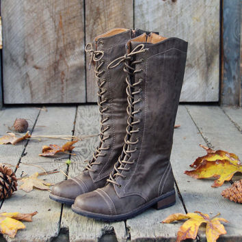 The Charlie Lace Up Boots