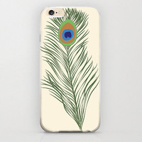 """Peacock Feather iPhone 6 Case Peacock Animal Feathers Beige Cream iPhone 6 Case Unique Hippie Custom iPhone 6 4.7"""" Covers and Cell Phone"""