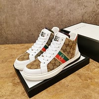 Gucci2021 Men Fashion Boots fashionable Casual leather Breathable Sneakers Running Shoes09280cx