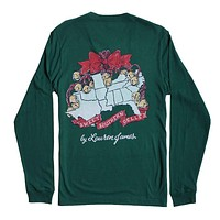 Sweet Southern Belles Long Sleeve Tee in Evergreen by Lauren James