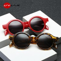 UVLAIK Retro Small Round Sunglasses Women Men 2018 Fashion Vintage Brand Sun Glasses Black White Leopard Red Sunglass UV400
