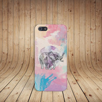 Geometric Pastel Elephant Case for iPhone 5 iPhone 5S iPhone 4 iPhone 4S and Samsung Galaxy S5 S4 & S3