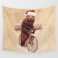 A Barnabus Christmas Wall Tapestry by Eric Fan