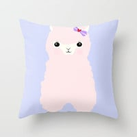 Alpaca in Love V 2 Throw Pillow by Apricot | Society6