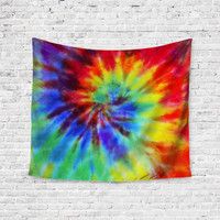RainbowTie Dye Swirl Multi Color Trendy Boho Wall Art Home Decor Unique Dorm Room Wall Tapestry Artwork