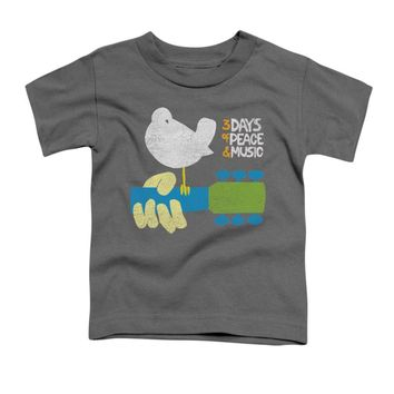 Woodstock Boys' Perched Childrens T-shirt Charcoal Rockabilia