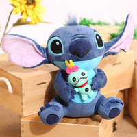 1pc 23cm Hot Sale Cute Cartoon Lilo and Stitch Plush Toy Soft Stuffed Animal Dolls Best Gift for Children Kids Toy
