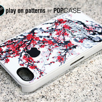 iphone 4 Case - iphone 4 cover - plastic or silicone rubber - floral branches
