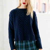 BDG Honeycomb Cable Knit Sweater-