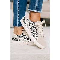 Jordan Beige/Leopard Tennis Shoes