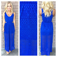 Diamond in the Sky Maxi Dress - ROYAL BLUE