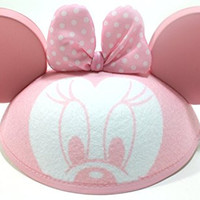 Disney Parks Minnie Mouse Pink Baby Girl Ears Hat