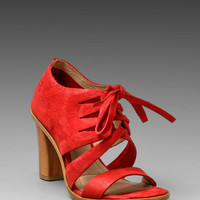 Frye Sofia Tie On Bootie in Red from REVOLVEclothing.com